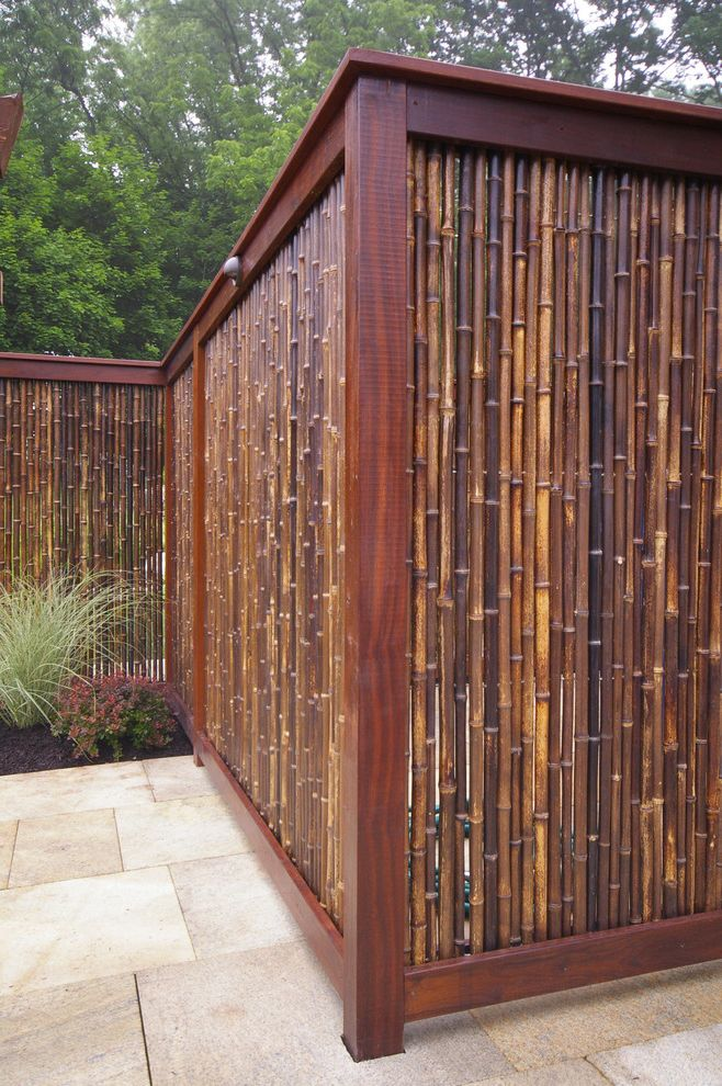 Fence Repair Denver with Asian Patio Also Asian Bamboo Bucks County Doylestown Fence Granite Paving Landscape Architecture Landscape Contractor Landscape Design Pa Privacy