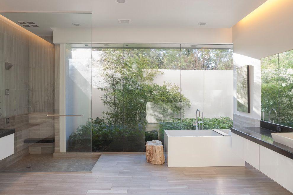 Ferguson Plumbing Orlando with Modern Bathroom Also Cove Lighting Glass Wall Square Freestanding Tub Two Sinks Two Vanities