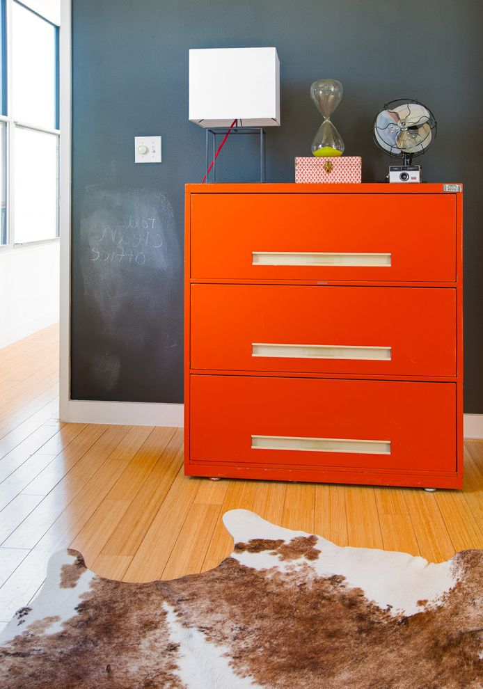 Filing Cabinets Target   Eclectic Spaces  and Chalk Paint Wall Cow Hide Hour Glass Orange File Cabinet Table Lamp Vintage Fan Wood Floor