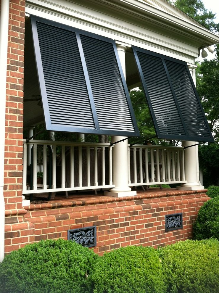 Foundation Vent Covers   Traditional Porch  and Bahama Shutters Bermuda Shutters Custom Exterior Shutters Exterior Shutters Porch Shutters Wood Shutters