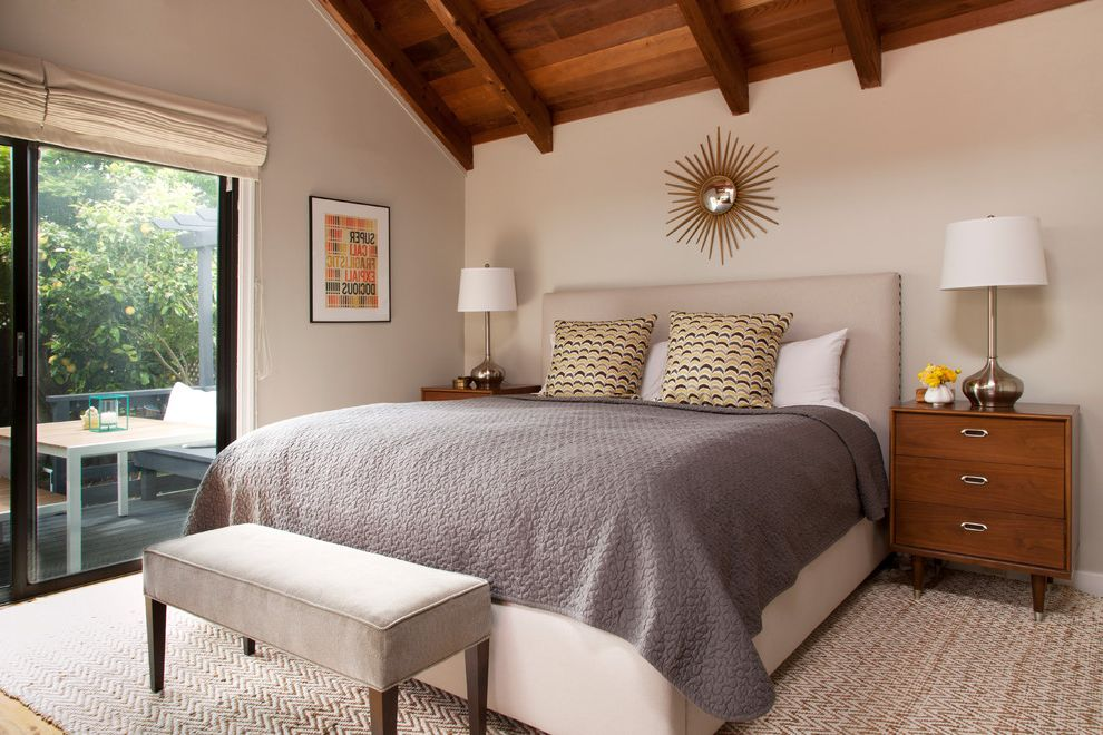 Freds Beds Raleigh with Transitional Bedroom  and Bedroom Walkout Bedside Lamps End of Bed Bench Gray Bench Modern Nighstands My Houzz Patterned Pillows Roman Shades for Sliding Glass Doors Sloped Ceiling Sunburst Mirror Table Lamps Zigzag Rug