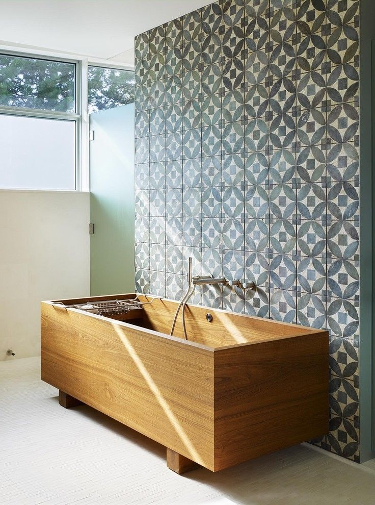 Freestanding Bathtubs for Sale with Tropical Bathroom and Deck ...