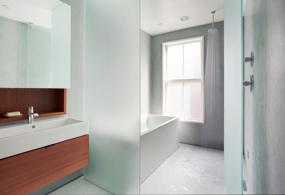 Frosted Glass Whiteboard   Contemporary Bathroom Also Custom Floating Vanity Frosted Glass Medicine Cabinet Mirror Rain Showerhead Sandblasted Glass Door Sandblasted Glass Wall Shelf Shower Window
