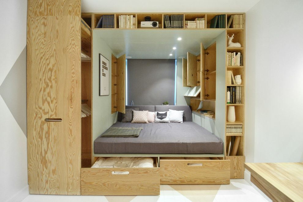 Full Size Mattress Measurements   Contemporary Bedroom  and Built in Storage Made to Measure Pedestal Platform Plywood