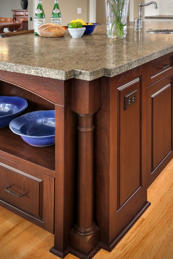Furniture Outlets in Ct with Traditional Kitchen  and Carved Wood Kitchen Hardware Kitchen Island Open Shelving Slab Countertops Wood Cabinets Wood Flooring Woodwork