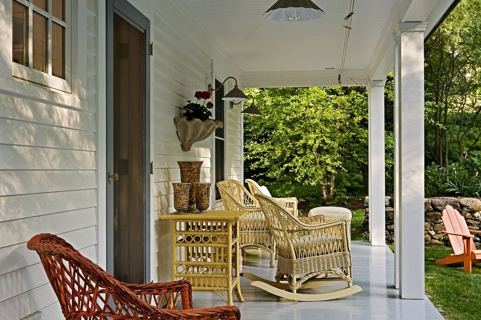 Furniture Repair Okc   Traditional Porch Also Covered Porch Front Porch Outdoor Lighting Outdoor Space Patio Furniture Porch Rocking Chair Screen Door Wicker Chair Wicker Table