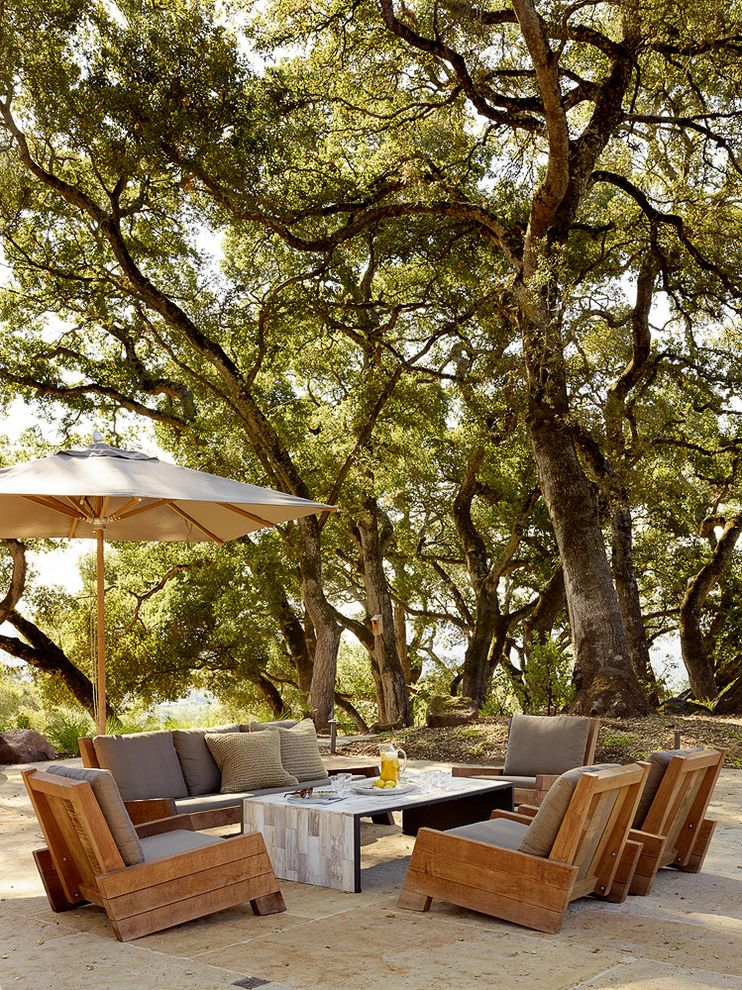 Furniture Sale Seattle with Mediterranean Patio  and Natural Landscape Outdoor Furniture Outdoor Living Trees Umbrella