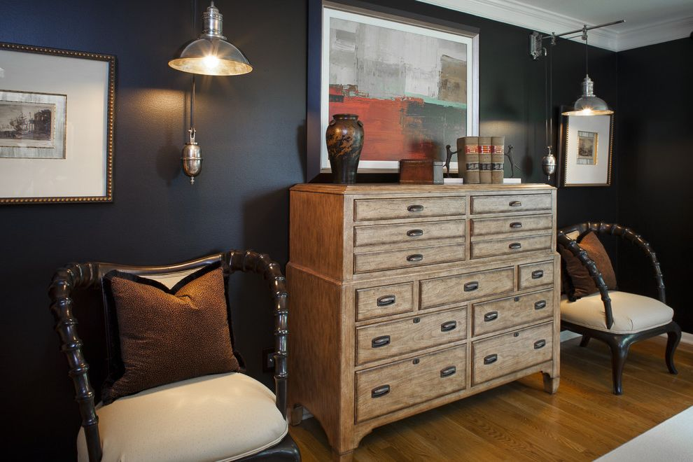 Furniture Stores in Jackson Ms with Rustic Bedroom  and Art Brown Pillows Chair Dark Grey Wall Dark Wall Industrial Lamp Rustic Rustic Chest of Draws Wall Mount Light Wood and Leather Chair Wood Floor