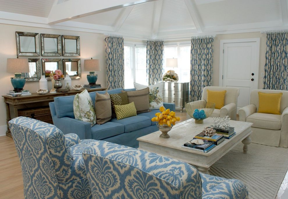 Furniture Stores in Santa Monica with Traditional Living Room  and Bungalow Cottage Eclectic Floral Print Living Room