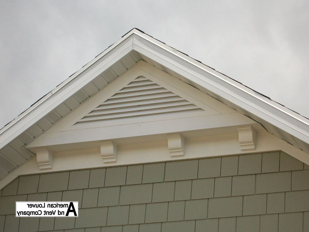 Gable End Vents with Traditional Spaces  and Gable End Vent Triangle Attic Louvers Triangle Attic Vent Triangle Gable Louvers Triangle Gable Vent