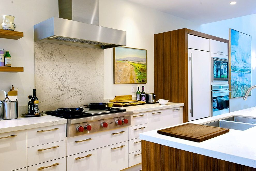 Gas Range Tops With Modern Kitchen And Bianco Asiago Industrial Vent Hood  Kitchen Island Marble Backsplash