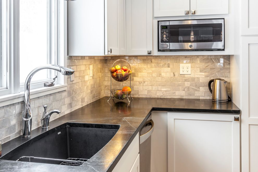 White Shaker Kitchen With Soapstone Countertops $style In $location