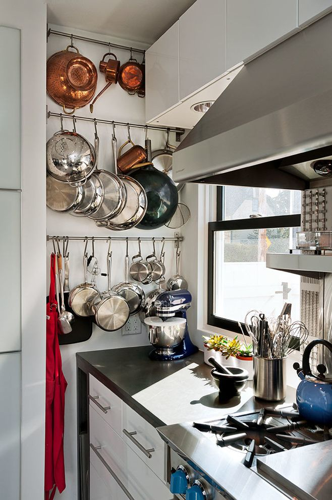 Georges Tool Rental   Contemporary Kitchen Also Bar Pulls Black Counter Black Windows Blue Kitchen Aid Mixer Coastal Copper Copper Colander Drawers Hanging Pots Hood Modern Pot Rack Red Apron Rustic Small Kitchen