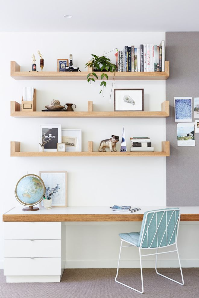 Georges Tool Rental with Scandinavian Home Office  and Book Shelves Built in Book Ends Floating Shelves Globe Gray Bulletin Board