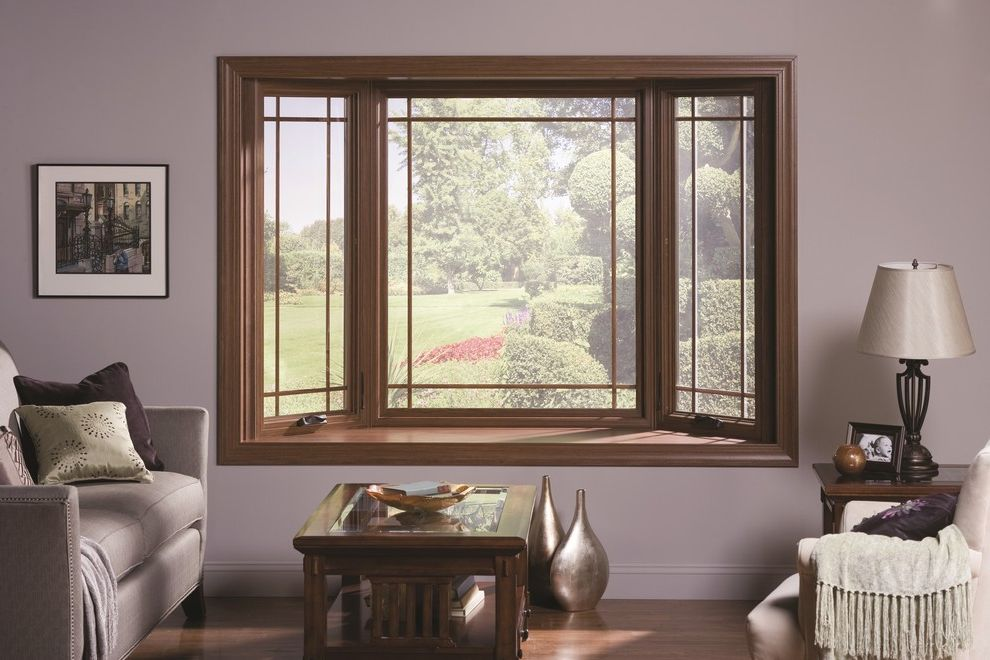 Gilkey Windows with  Spaces Also Bay Window Prairie Grilles
