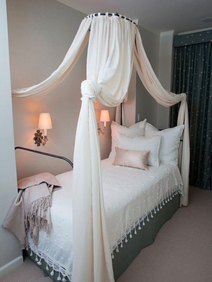 Girl Canopy Bedroom Sets with Shabby Chic Style Bedroom  and Canopy Bed Contemporary Family Friendly Sconces Traditional Twin Canopy Bed