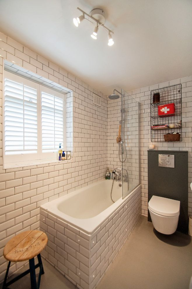 Glasses Corpus Christi with Eclectic Bathroom Also Ceiling Light Frameless Shower Partition Gray Floor Rainshower Head White Metro Tile White Subway Tile Wood Stool