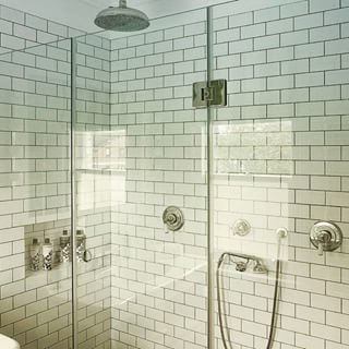 Glazzio Tiles   Industrial Bathroom  and 3x6 Subway Tile Mosaic Shower Glass Subway Tile White Tile