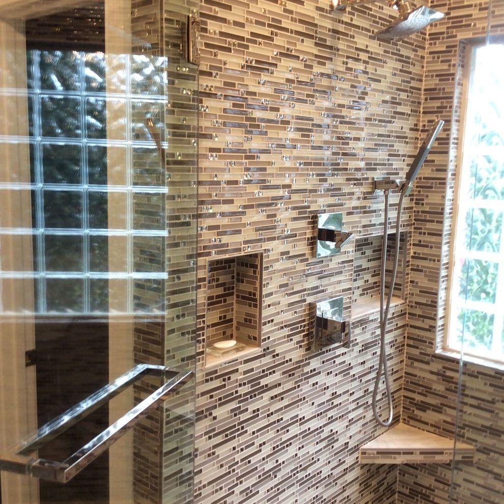 Glazzio Tiles   Modern Bathroom Also Bathroom Glass Tile Glass Tile Shower Glazzio Glazziot Tiles Grohe Hansgrohe Luxury Shower Modern Bathroom Moen Recycled Glass Tile Shower Shower Door Shower Shelf Shower Shelves Soap Dishes Holders Spa