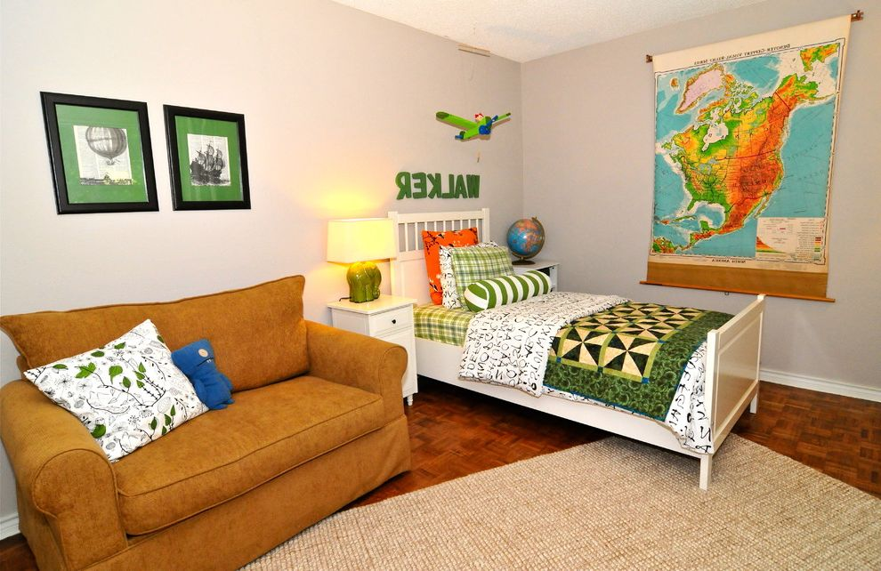 Globe Life Park Seating Map   Eclectic Kids  and Area Rug Bedroom Boys Room Green Bedding Kids Room Map Parquet Floor Patchwork Quilt Twin Bed Wall Letters Wood Flooring