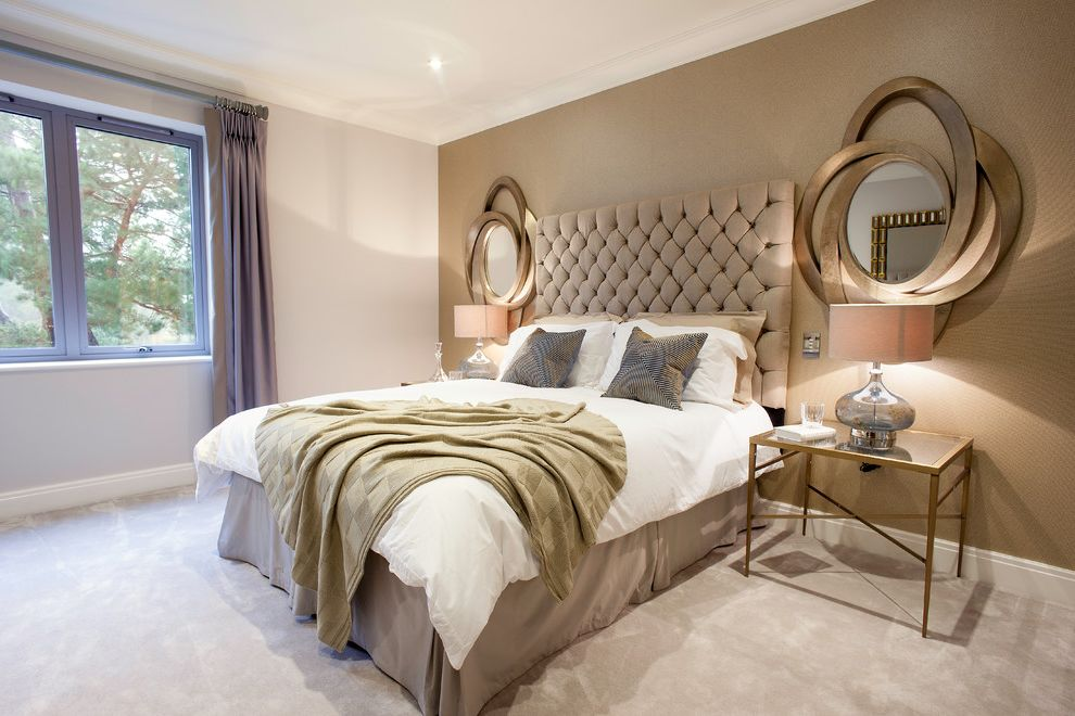 Gold Mercury Glass Votives with Contemporary Bedroom Also Bespoke Comfort Decorative Mirror Dorset Glass Bedside Lamps Glass Beside Tables Gold Throw Grand Mirror Hampshire Home Staging Luxury Luxury Bedroom Oval Mirror Quality Show Home Staging Uk