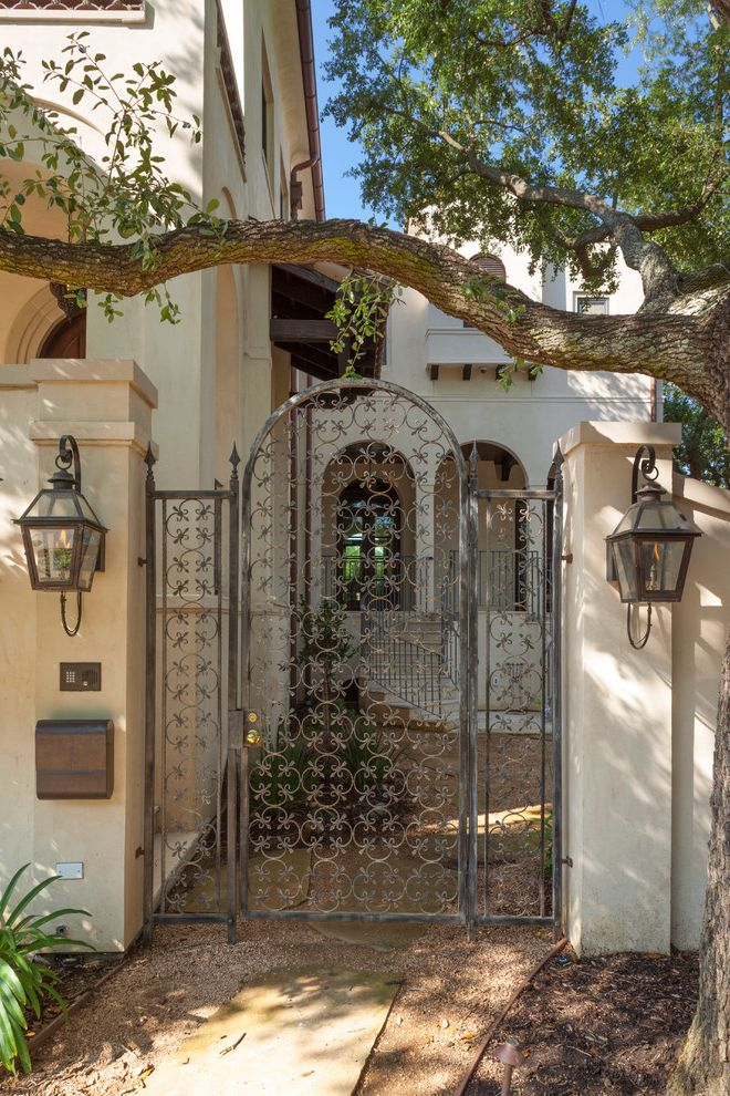 Golden Gate Villa Santa Cruz with Mediterranean Landscape  and Metal Gate Sconces
