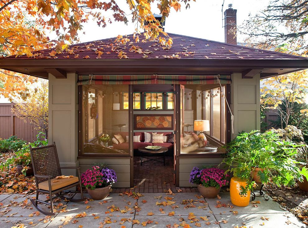Golden Nugget Rooms   Craftsman Shed Also Enclosed Screen Room Indoor Outdoor Living Outdoor Furniture Outdoor Room Rocking Chair Screened Room Summer House