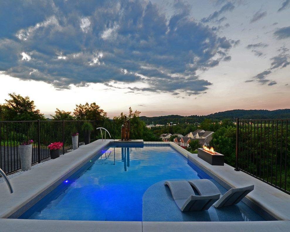 Goodall Pools   Contemporary Pool  and Fire Feature in Ground Pool Lighting in Ground Swimming Pool Outdoor Fountains