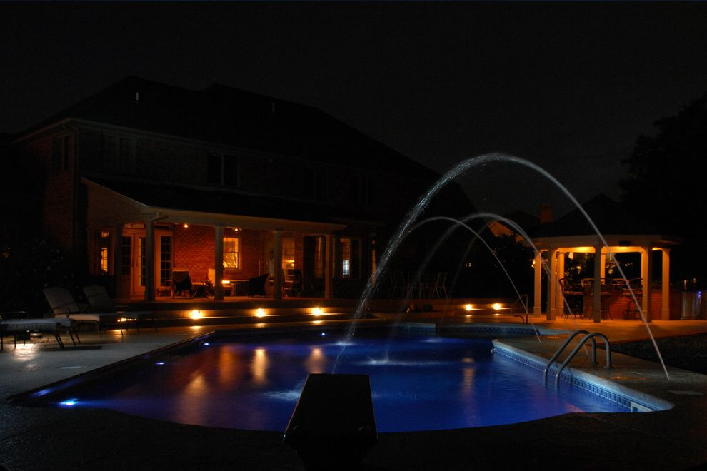 Goodall Pools   Traditional Pool Also Deck Jets Inground Pool Outdoor Kitchen Pool Builder Pool Fountains Pool Lights Swimming Pool