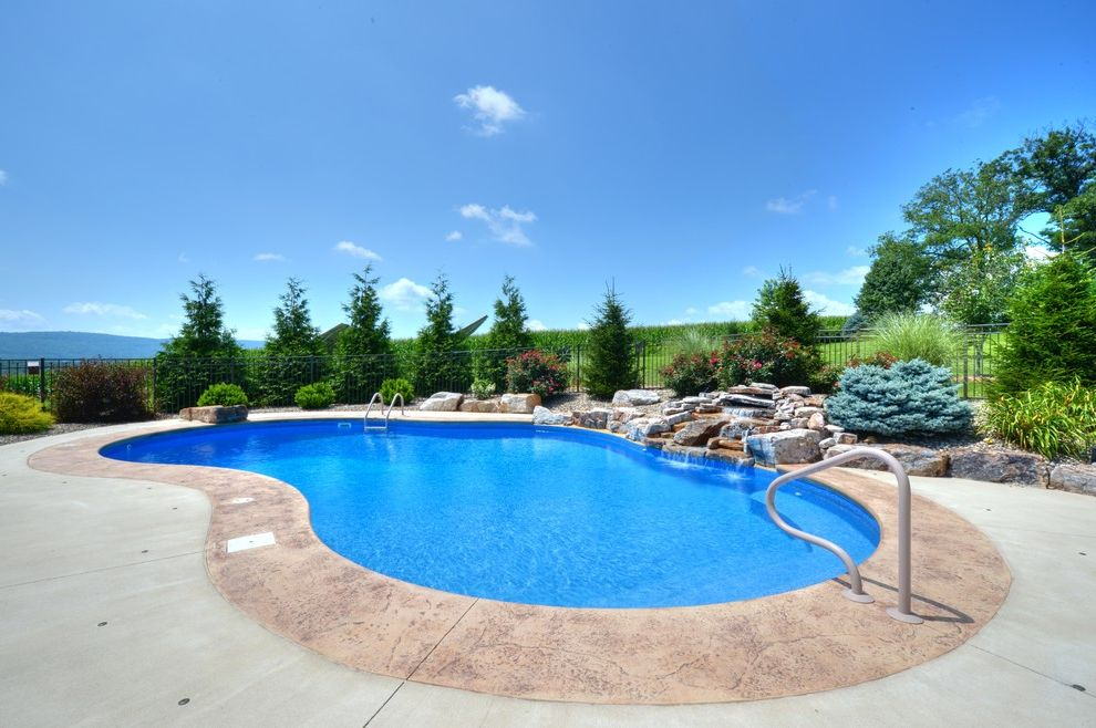 Goodall Pools   Traditional Pool  and Beautiful Pools Central Pa Goodall Pools Spas Inground Pools Water Feature Waterfalls