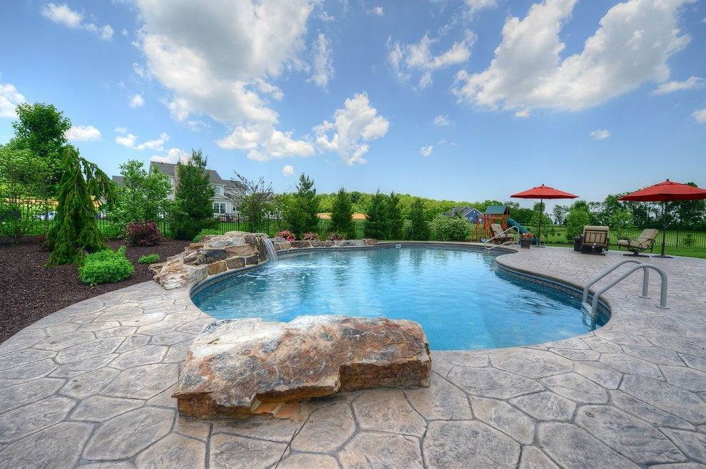 Goodall Pools with Contemporary Pool  and Beautiful Pools Central Pa Goodall Pools Spas Inground Pools Water Feature Waterfalls