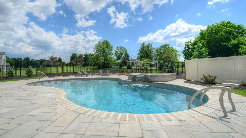 Goodall Pools With Contemporary Pool And Beautiful Central Pa Spas Inground Waterfalls
