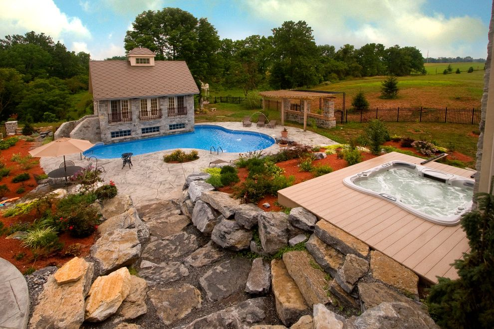 Goodall Pools with Eclectic Pool  and Camp Hill Harrisburg Hot Tub Inground Pool Lancaster Lebanon Pool Builder Spa Swimming Pool