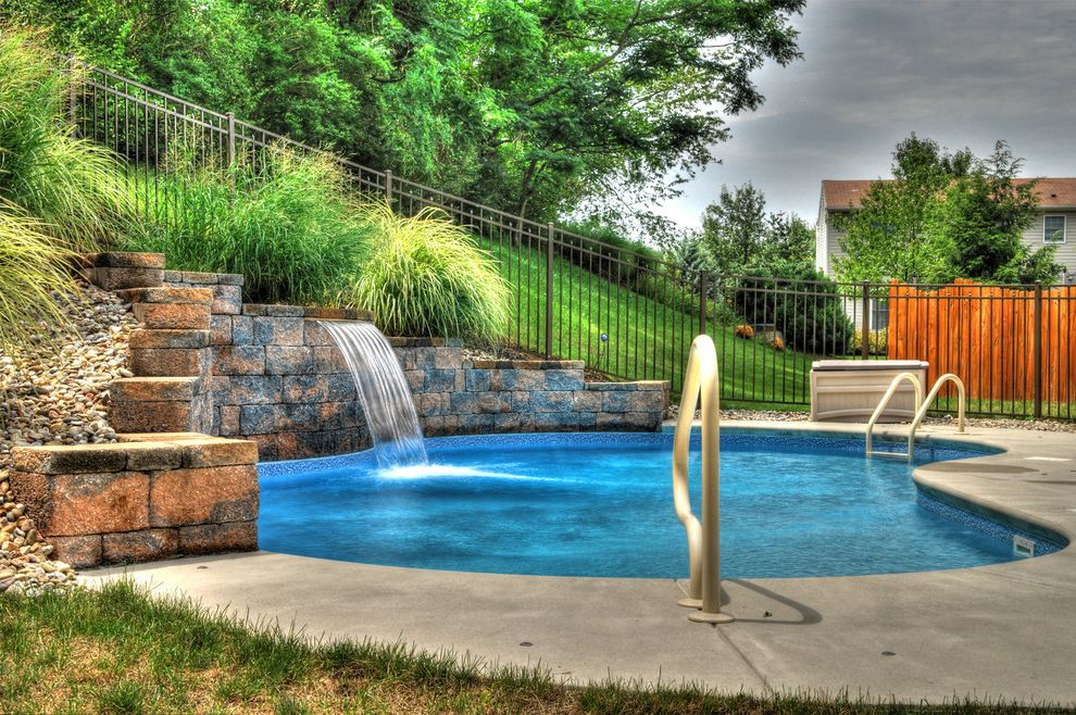 Goodall Pools with Mediterranean Pool Also Blue Pool Fence Hardscape Iron Fence Lancaster Swimming Pools Mosaic Ornamental Grass Stone Swimming Pool Builder Water Feature