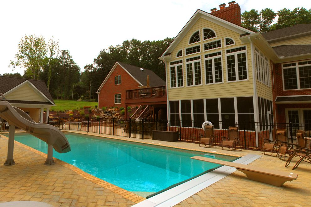 Goodall Pools with Traditional Pool Also Automatic Cover Camp Hill Central Pa Harrisburg in Ground Pool Inground Pool Lancaster Lebanon Pool Builder Pool Slide Swimming Pool