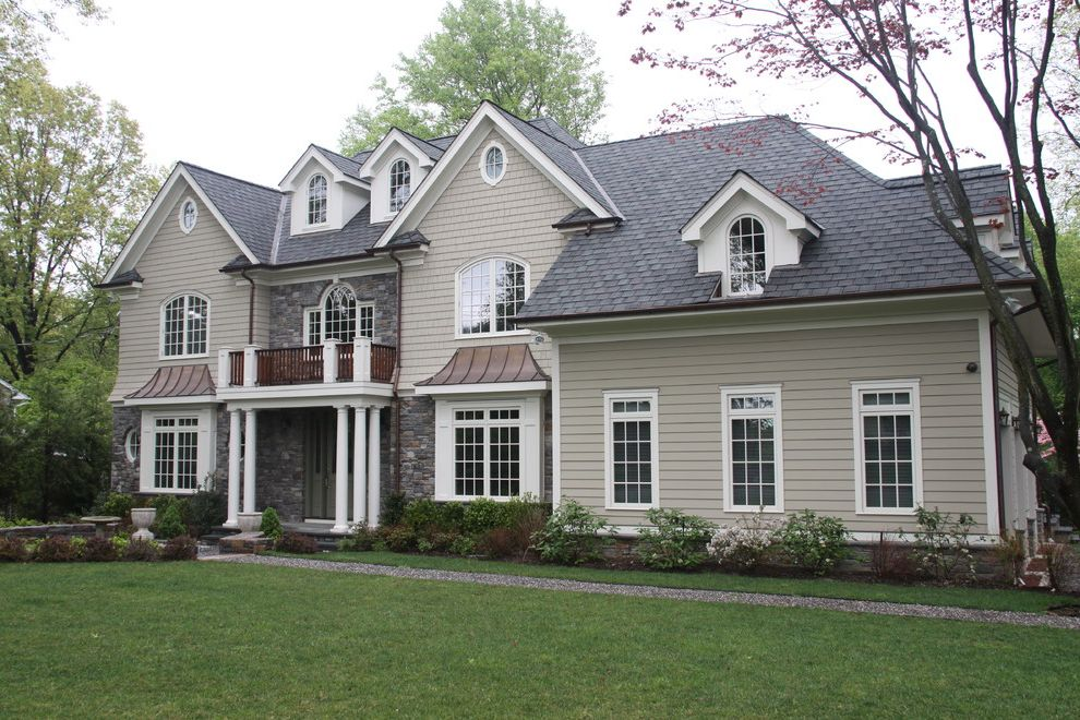 Grand Manor Roof   Traditional Exterior  and New Construction in Scarsdale New York
