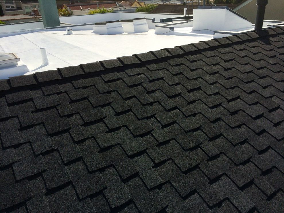 Grand Sequoia Shingles   Traditional Spaces  and Cool Roof Flat Roof Roof Coating Roofing Shingle Roof Skylights Waterproof