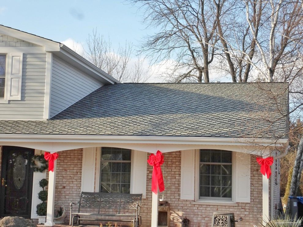 Grand Sequoia Shingles with Traditional Exterior Also Asphalt Shingles Brick and Siding Front Fascia Front Porch Gaf Timberline Roof Roofing Gutters Shingles Soffit Timberline Hd Wood Shake Roof Wood Shingle Shake Roof