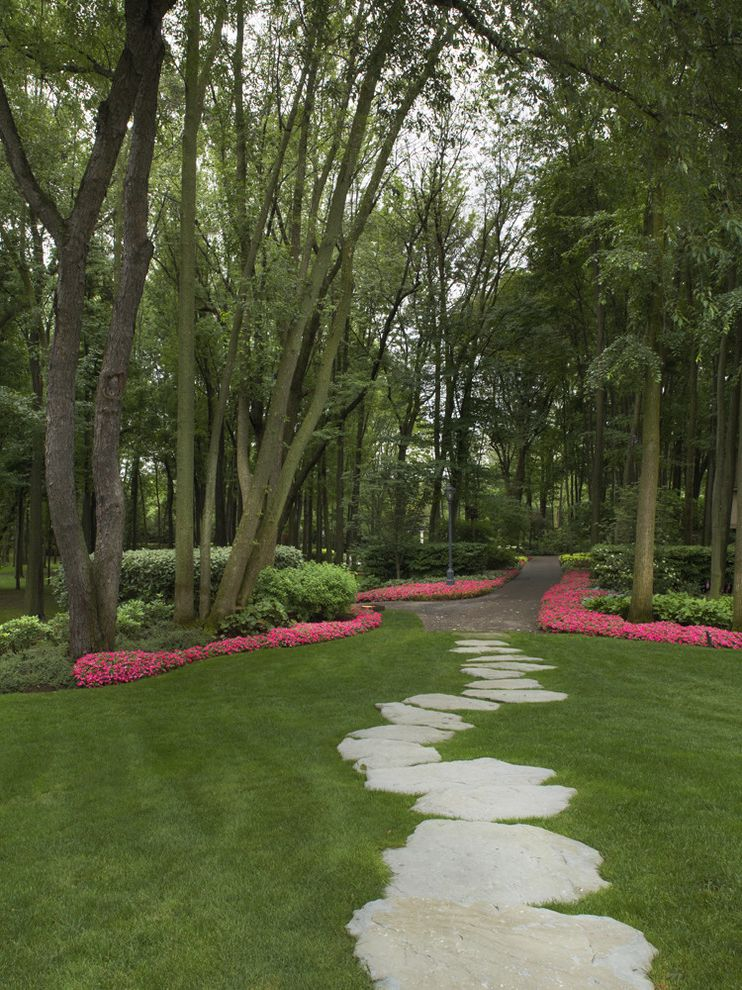 Great Oaks Landscaping   Traditional Landscape  and Forest Garden Walk Hidden Walkway Landscape Landscape Architecture Landscape Design Maintenance Pathway Planting Steppers Stone Walkway
