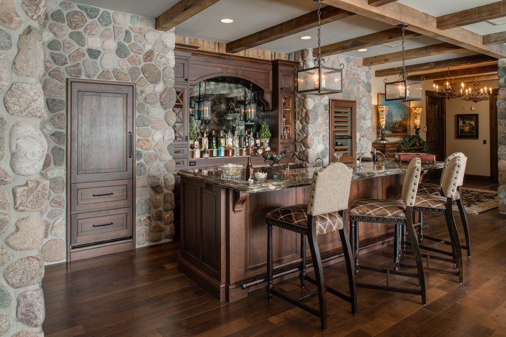 Grotto Boston with Traditional Home Bar and Bar Bar Area Guest ...