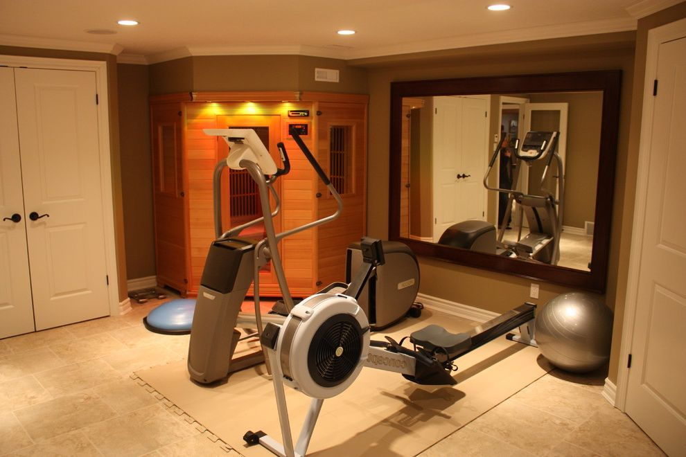 Gyms with a Sauna   Traditional Home Gym Also Gym Sauna Sauna Gym