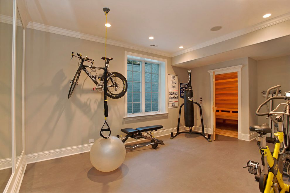 Gyms with a Sauna with Contemporary Home Gym  and Contemporary