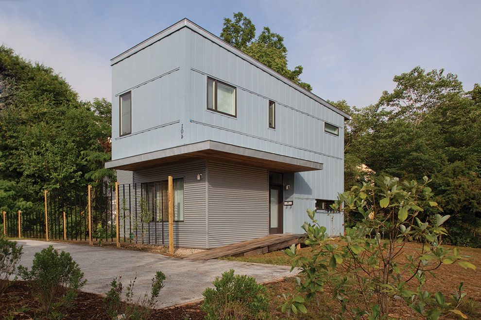 Habitat for Humanity Seattle   Contemporary Exterior Also Corrugated Metal Eco Friendly Fascia Landscape Plants