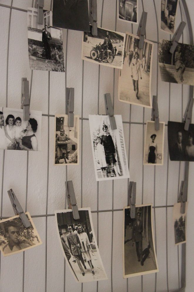 Hanging Photos on Wire with Eclectic Spaces  and Bulletin Board Clothesline Diy Gallery Wall Photo Display Shabby Chic
