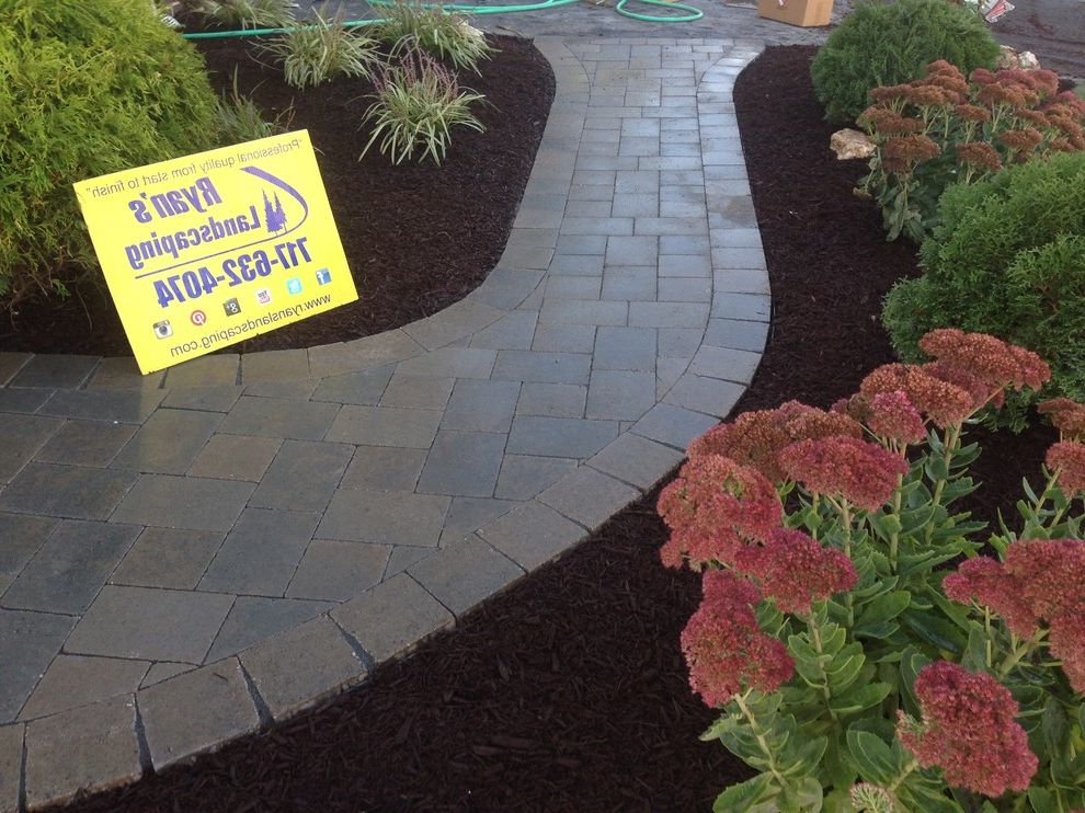 Hanover Pavers   Mediterranean Landscape  and Design Front Enterance Hanover Hardscape Home Improvment Investment Pavers Sidewalk Walkway