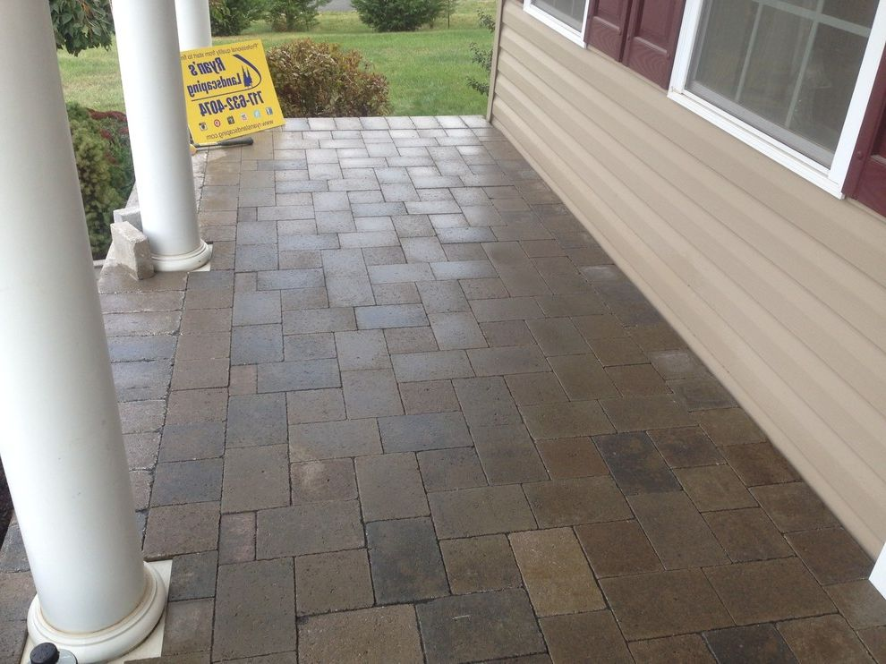 Hanover Pavers   Mediterranean Patio Also Design Front Enterance Hanover Hardscape Home Improvment Investment Pavers Sidewalk Walkway