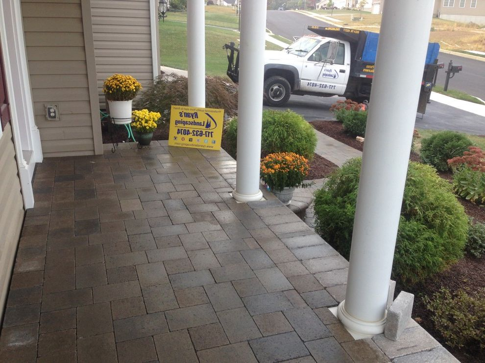 Hanover Pavers   Mediterranean Porch  and Design Front Enterance Hanover Hardscape Home Improvment Investment Pavers Sidewalk Walkway