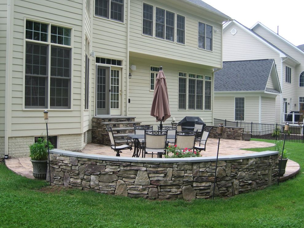 Hanover Pavers with  Patio  and Bluestone Eldorado Stone Hanover Paver