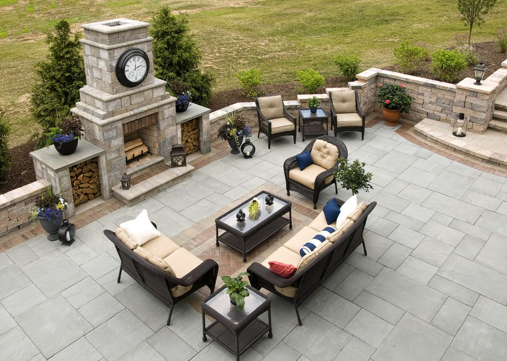 Hanover Pavers with Traditional Patio Also Back Yard Columns Deck Stairs Living Space Out Back Outback Outdoor Outdoor Living Outdoor Rug Outdoor Stairs Patio Patio Furniture Patio Inlay Paver Rug Stairs Tile Rug Wicker Furniture