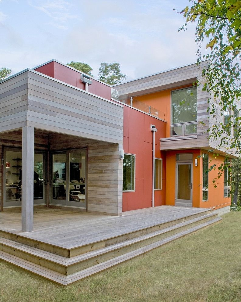 Hardiplank Colors   Contemporary Exterior  and Cedar Siding Downspout Fiber Cement Leed Modern Porch